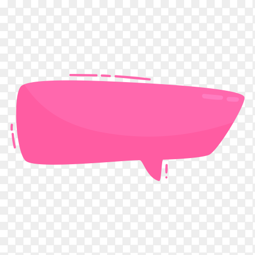 Illustration of pink Speech Bubble on transparent background PNG