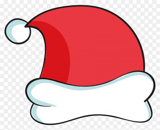 Illustration of santa claus hat premium vector PNG