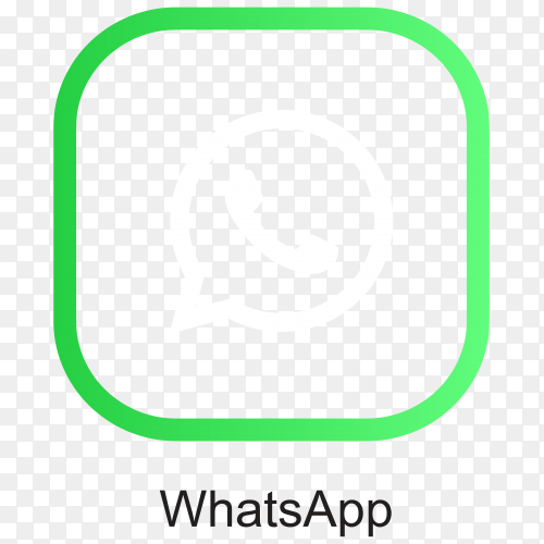 Illustration of whatsapp icon design on transparent background PNG