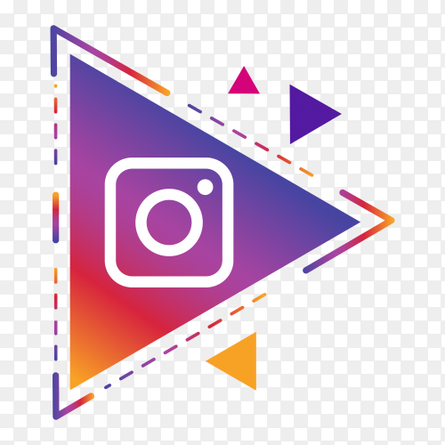 Instagram icon isolated on transparent background PNG