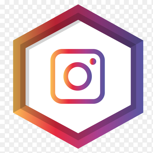 Instagram icon modern design on transparent background PNG