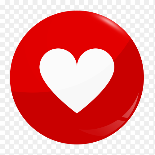 Instrgrame like love icon on transparent background PNG