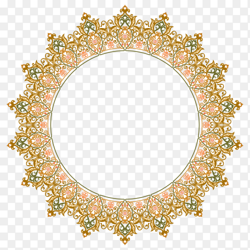 Islamic descoration circle premium vector PNG