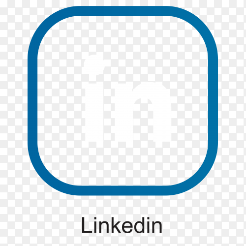 Linkedin icon illustration premium vector PNG