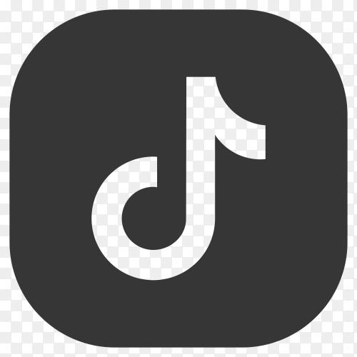 Logo of the tiktok app design on transparent  PNG