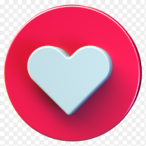 Love icon design isolated premium vector PNG