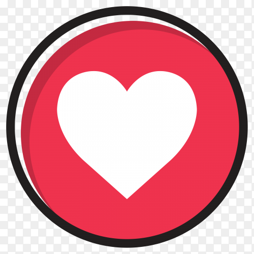Love sign icon in flat design on transparent background PNG