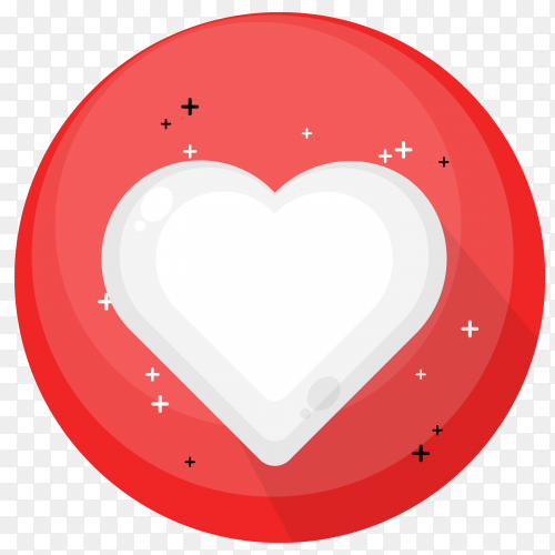 Love social media icon illustration on transparent background PNG