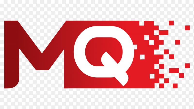 MQ logo design illustration on transparent background PNG