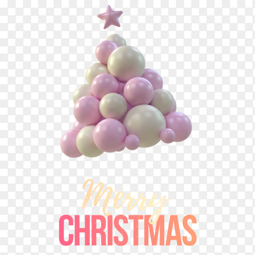 Marry Christmas banner on transparent background PNG
