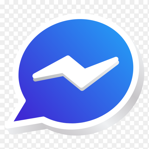Messenger icon on transparent background PNG