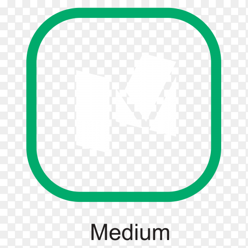 Medium icon design isolated on transparent background PNG