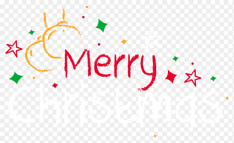 Merry christmas card design premium vector PNG