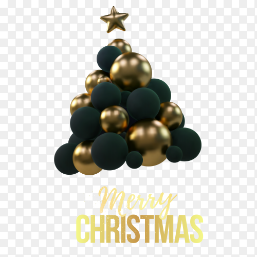 Merry christmas design on transparent background PNG