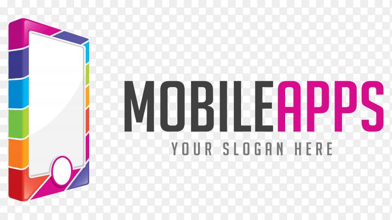 Mobile Apps Logo Illustration on transparent PNG