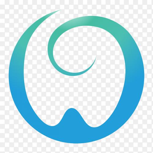 Modern Dental Logo on transparent background PNG