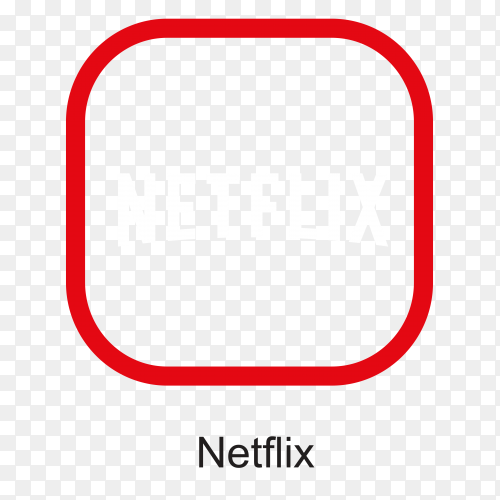Netflix icon design on transparent PNG