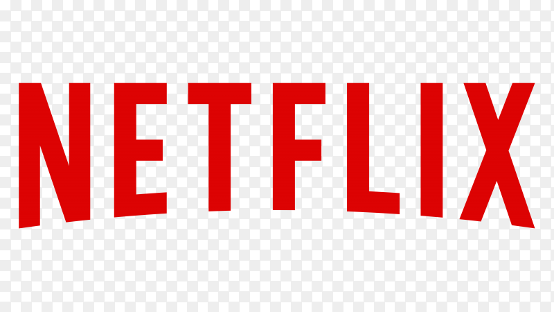 Netflix logo design illustration on transparent background PNG