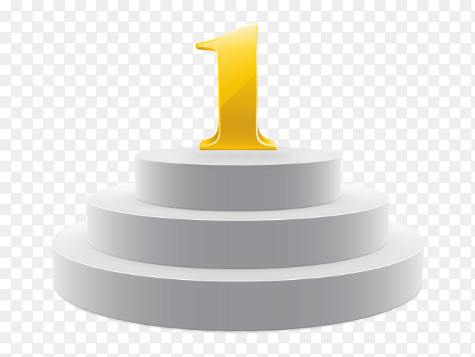 Number one podium scene on transparent background PNG