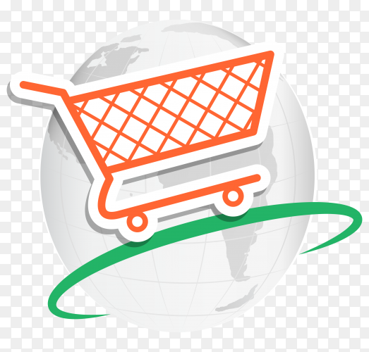 Online shopping Concept on transparent background PNG