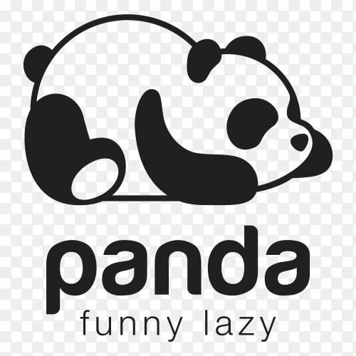 Panda Bear Silhouette Logo Design premium vector PNG