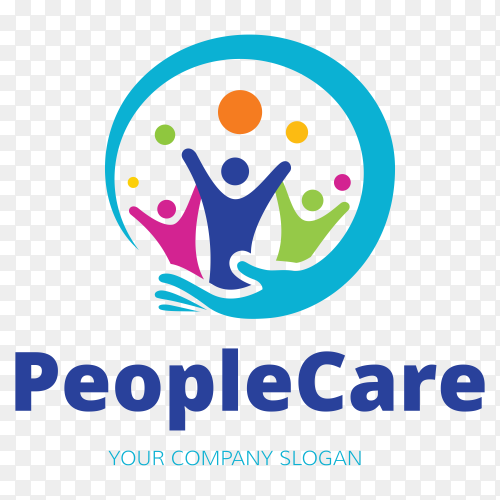 People Care Logo Template on transparent background PNG