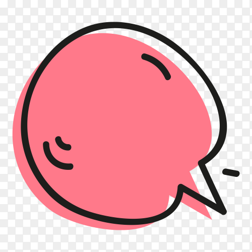 Pink Speech Bubble Isolated pn transparent background PNG