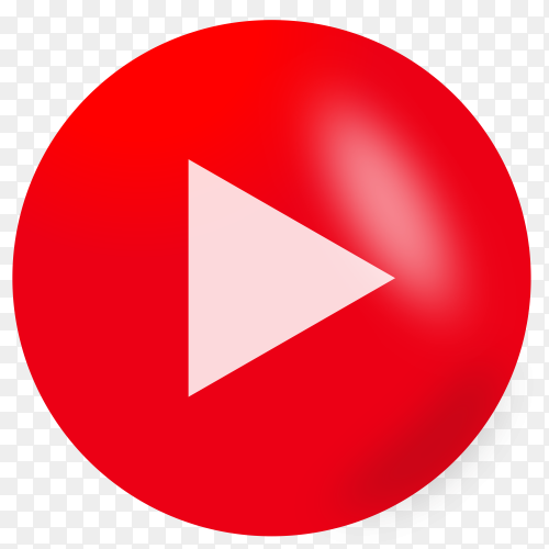Play button icon on transparent background PNG