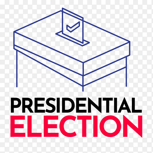 Presidential election day 2020 united states of america on transparent background PNG