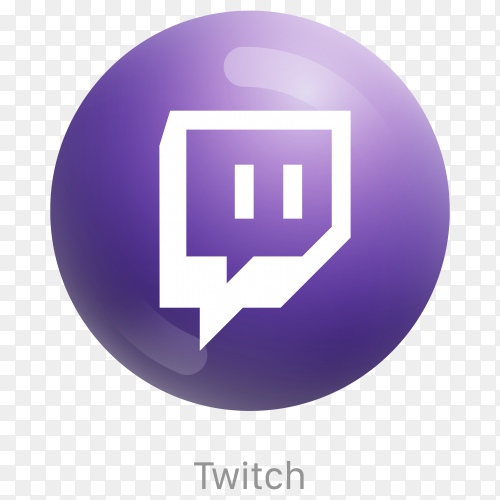 Purple Twitch icon design on transparent background PNG