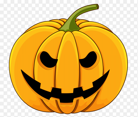 Realistic design halloween happy pumpkin on transparent background PNG