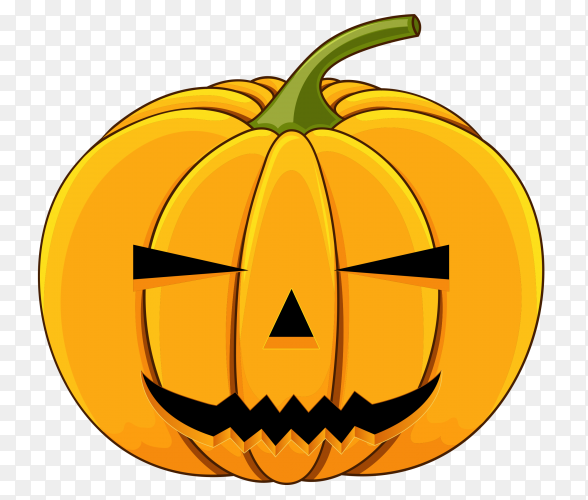 Realistic design halloween pumpkin on transparent background PNG