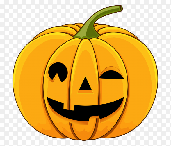 Realistic style halloween pumpkin premium vector PNG