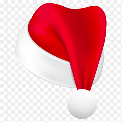 Reatistic christmas hat isolated on transparent PNG