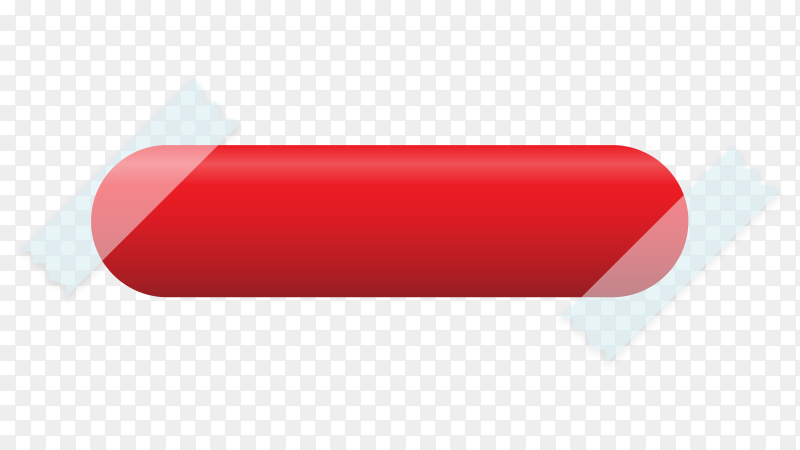 Red banner design on transparent background PNG