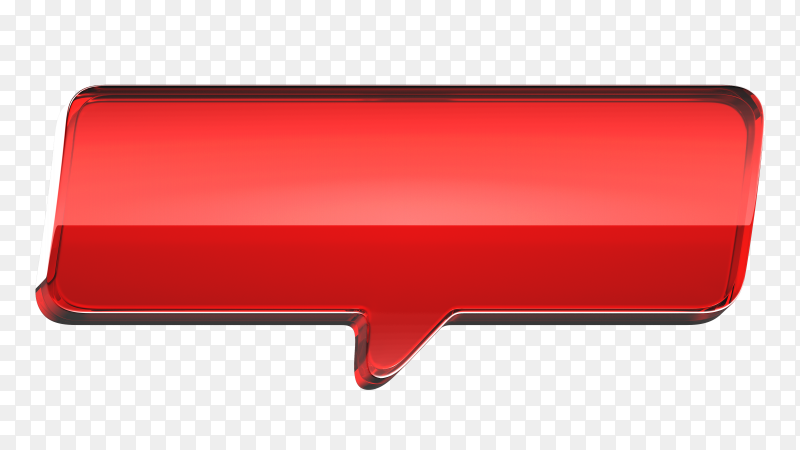 Red banner illustration on transparent backgroun PNG