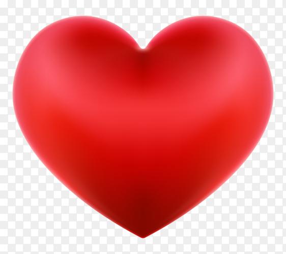 Red heart illustration on transparent background PNG