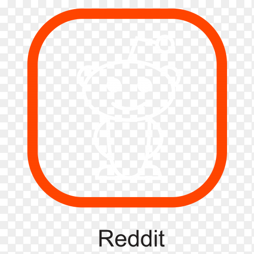 Reddit icon design on transparent background PNG
