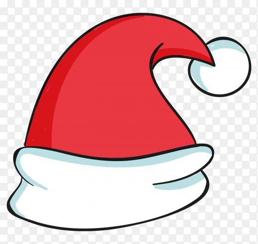 Santa claus hat isolated premium vector PNG