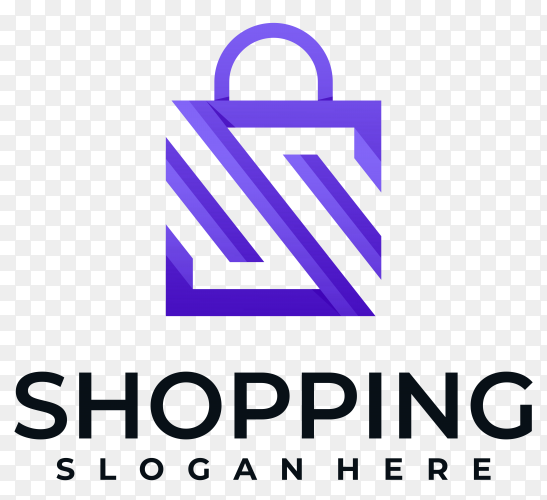 Shopping logo design premium vector PNG