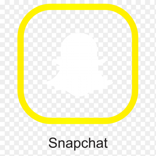 Snapchat icon isolated clipart PNG