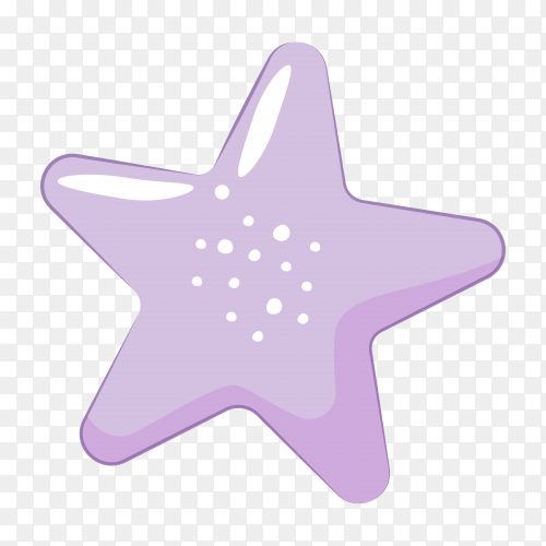 Star with purple color on transparent background PNG