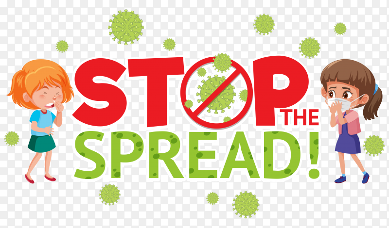 Stop corona virus sign premium vector PNG