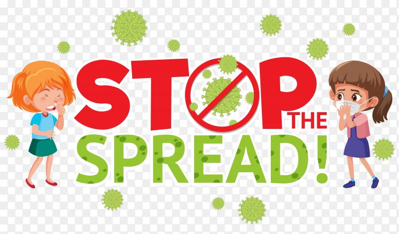Stop corona virus sign premium vector PNG