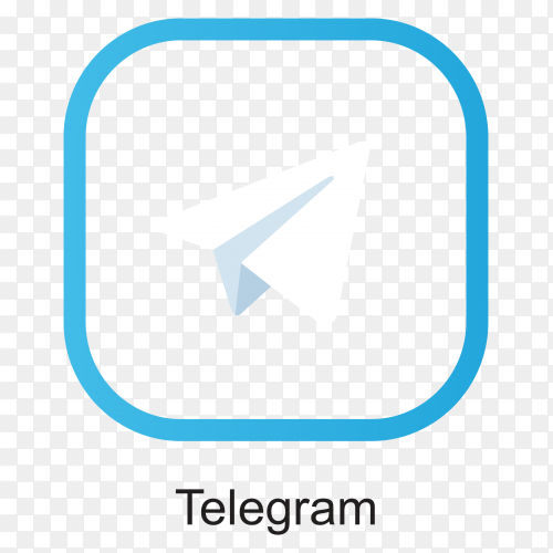 Telegram icon in flat design on transparent background PNG