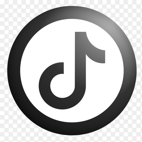 Tiktok icon logo design on transparent background PNG