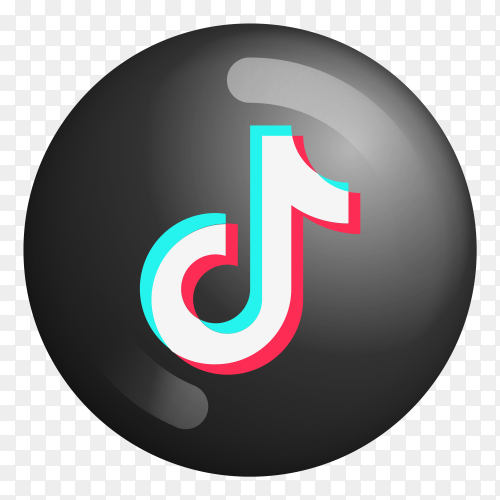 Tiktok logo on transparent background PNG