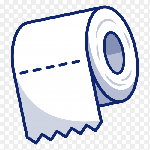 Toilet tissue paper roll icon illustration on transparent background PNG