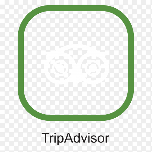 TripAdvisor icon design isolated premium vector PNG