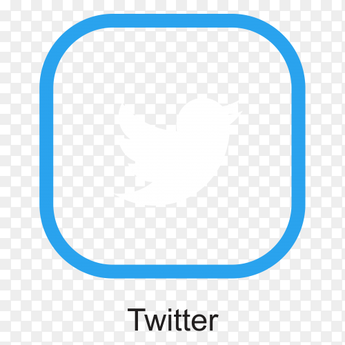 Twitter icon isolated premium vector PNG